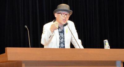 今月1日、法務省の招きで講演した田代まさしさん