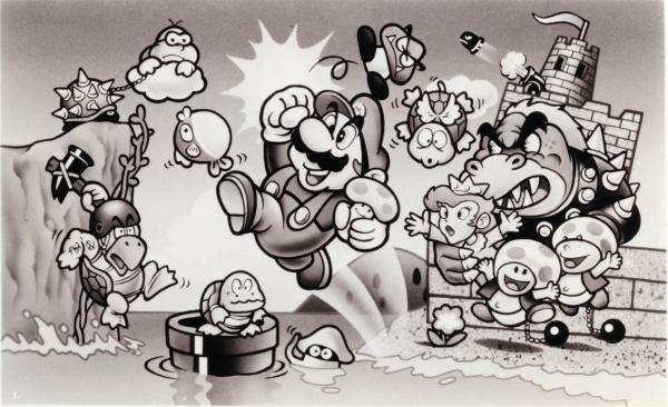 1986年にはアニメ映画化されたファミコンゲームのスーパーマリオブラザーズ