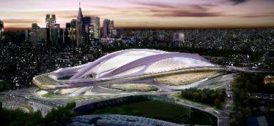 ザハ・ハディド氏が当初描いた新国立競技場=日本スポーツ振興センター提供