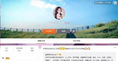 郭美美氏の新浪微博。2014年7月から更新が止まっている