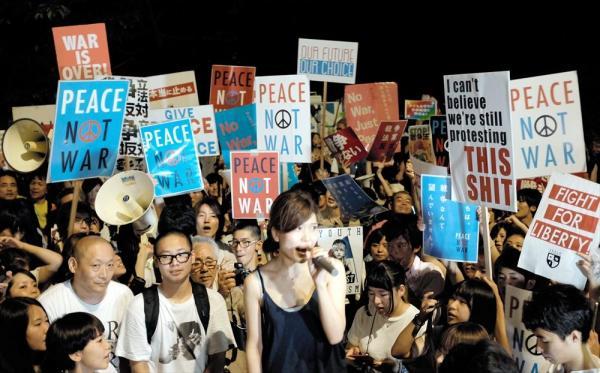 【2015年7月17日】国会前で行われた学生団体主催