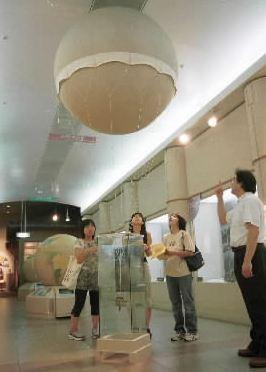 風船爆弾の7分の1模型=埼玉県平和資料館