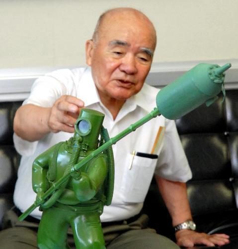 特攻兵器「伏龍」の模型