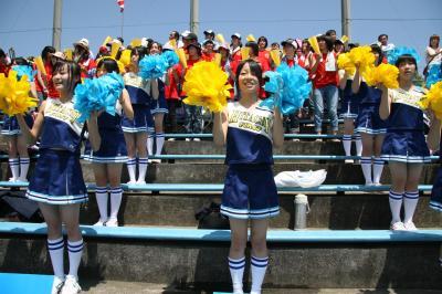 日立一高の応援風景=2010年7月16日、全日写連日立支部・阿部和宏さん撮影