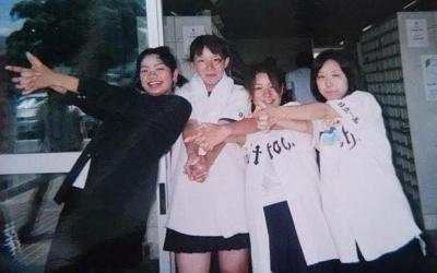 BRAHMAN「SEE OFF」が高校野球の応援歌になった瞬間。当時、茨城県立日立一高でチャンステーマをつくった4人組(左から黒木絢乃さん、小林笑美さん、水野舞さん、小川章子さん)