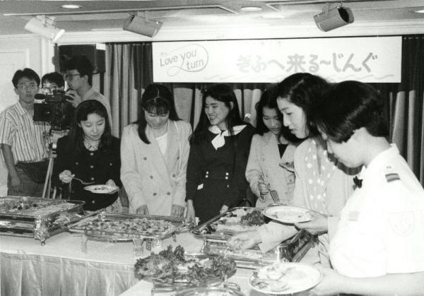 【1991年6月3日】岐阜県は就職を目指す首都圏の卒業予定者の東京湾を巡る船上パーティーを企画
