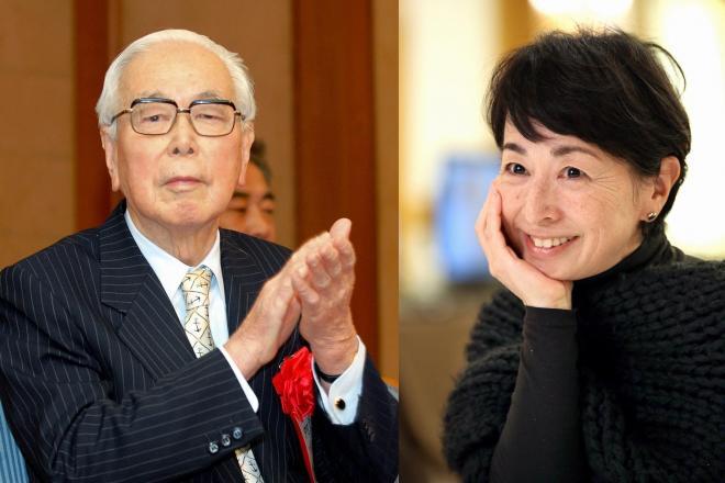 阿川弘之さん(左)と娘の阿川佐和子さん