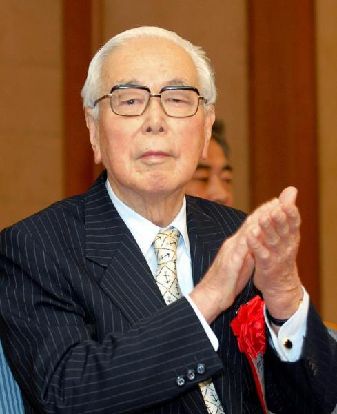 【2007年12月】菊池寛賞を受賞した阿川弘之氏