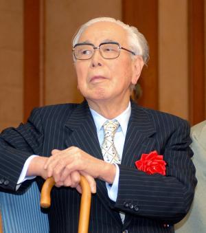 阿川弘之さん=2007年12月