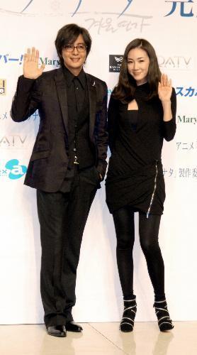 【2009年9月29日】日本で初めてペ・ヨンジュンさんと2人そろって会見=東京・有明で