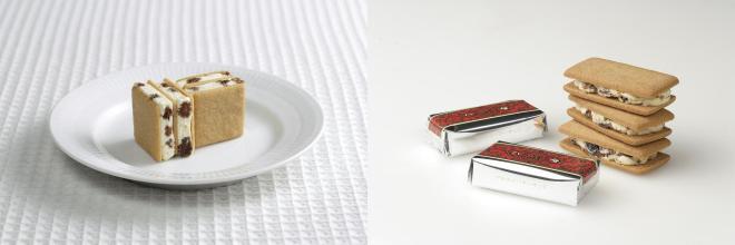 左がマルセイアイスサンド。右はマルセイバターサンド