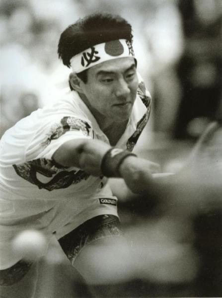 選手時代の松岡修造さん=1993年5月2日