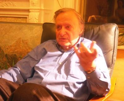 キャバレー法に詳しい、ニューヨーク大のポール・シェビニー名誉教授=2015年1月、ニューヨーク市内