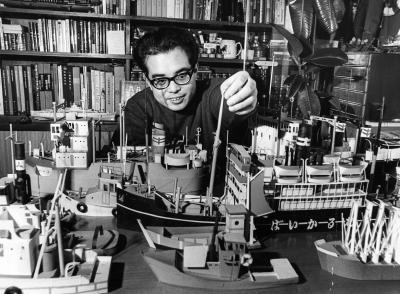 画家でイラストレーターの柳原良平さん=1968年