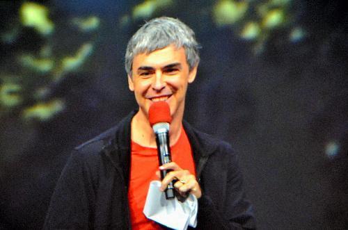 ラリー・ペイジ氏。スタンフォード大大学院の博士課程在学中だった1998年にグーグルを創業=2013年5月15日
