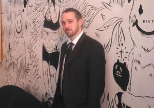アンドリュー・マッチモア弁護士=2015年1月、ニューヨークのブルックリンにあるマッチモア弁護士のバー