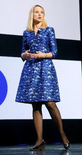 米ヤフーCEOのマリッサ・メイヤー氏。スタンフォード大を卒業後の1999年、創業間もないグーグルに、20番目の社員として入社。初めての女性の技術者として中核事業であるネット検索などを統括=2014年1月7日