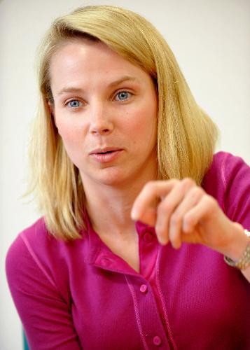 米ヤフーCEOのマリッサ・メイヤー氏。スタンフォード大を卒業後の1999年、創業間もないグーグルに、20番目の社員として入社。初めての女性の技術者として中核事業であるネット検索などを統括=2008年5月12日