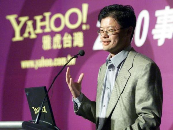 米ヤフー共同創業者のジェリー・ヤン氏。1995年、米スタンフォード大在籍中にヤフーを設立=2000年6月26日