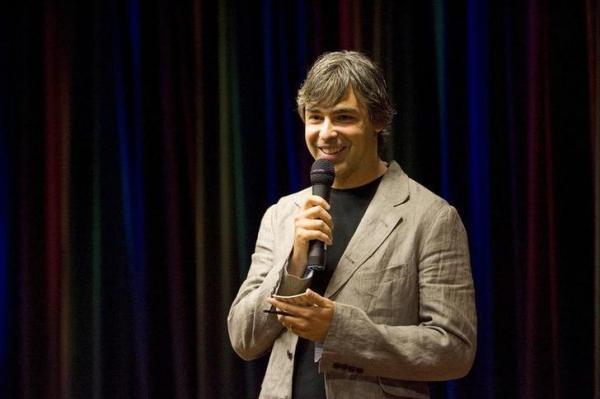 ラリー・ペイジ氏。スタンフォード大大学院の博士課程在学中だった1998年にグーグルを創業=2008年9月2日