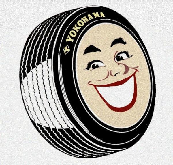 かつて使われていたヨコハマタイヤのマーク「スマイレージ」