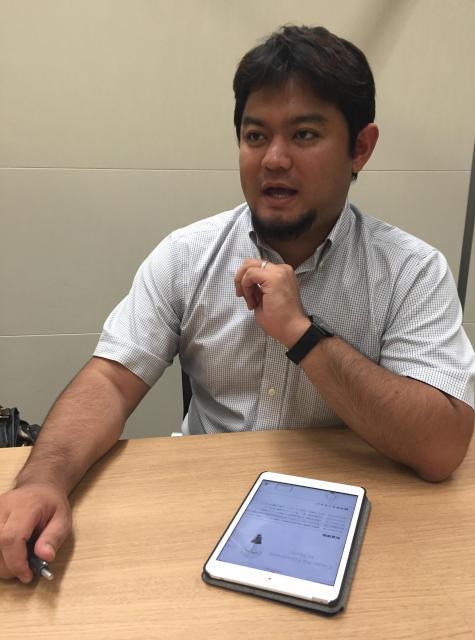 松川来仁さん。外資系製薬会社に勤めているとき、起業のアイデアを思いついた。