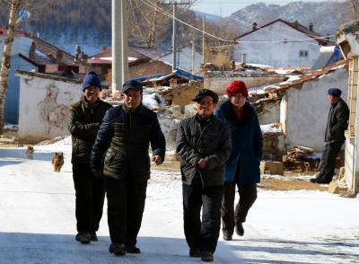 中国政府が申請した2022年の冬季五輪で、オリンピック村の建設予定地になっている農村=2015年1月17日、河北省張家口市の太子城村