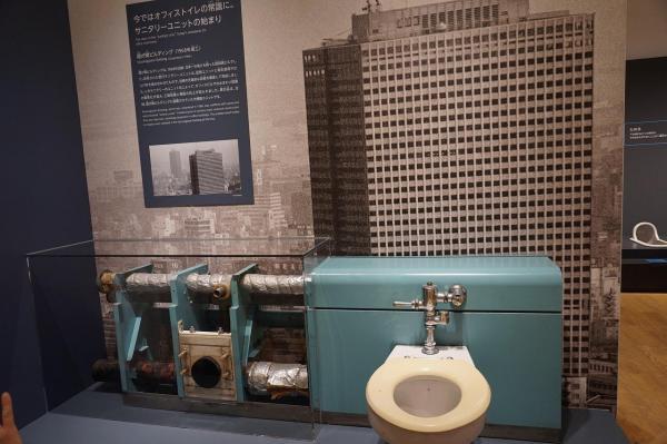 TOTOミュージアムに展示されている「霞ヶ関ビルディング」