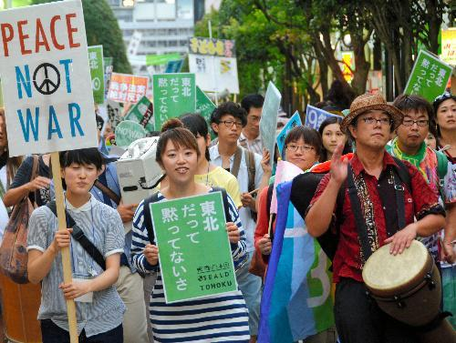 仙台でのSEALDsデモ=2015年8月23日