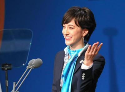 国際オリンピック委員会(IOC)総会で、プレゼンテーションをする滝川クリステル氏=2013年9月7日