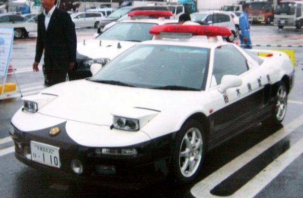 栃木県警のNSXのパトカー=2010年9月