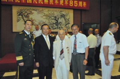 人民解放軍85周年の式典に招かれた際の写真