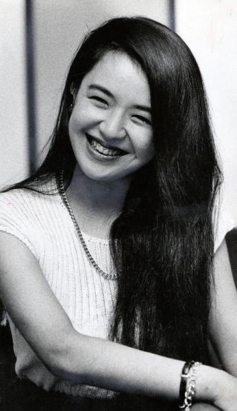 黒木香さん=1987年11月