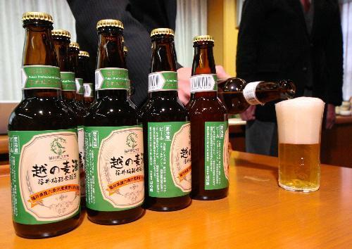 (福井)福井産の梅酵母と六条大麦を使った地ビール「越の麦酒」