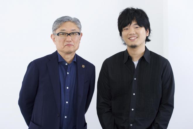 堤 幸彦監督(左)と 秦 基博さん