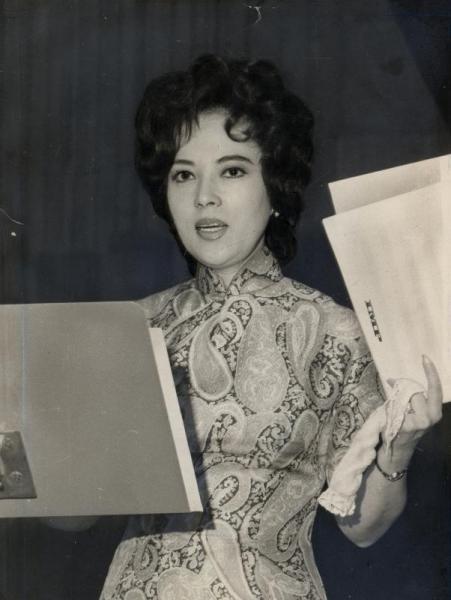 【1970年6月24日】山口淑子さん=フジテレビで