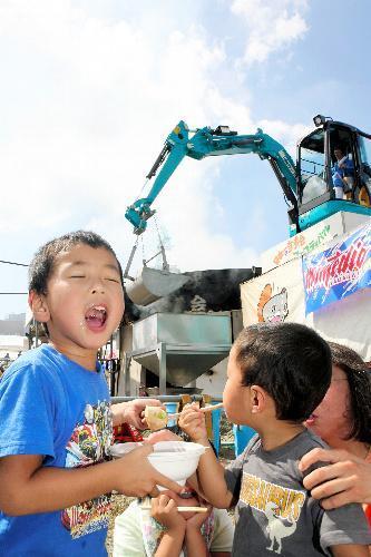 日本一の芋煮会フェスティバル=2009年9月6日、山形市