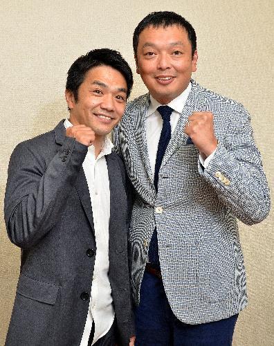 「M―1グランプリ」初代王者の中川家。兄の剛(左)と弟の礼二=大阪市中央区、堀内義晃撮影