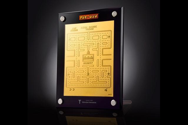 パックマン生誕35周年を記念して発売される「純金パックマン」