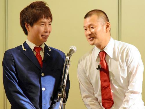 「M―1グランプリ2008」の決勝に進出したU字工事の福田(左)と益子