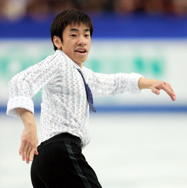 国勢調査広報大使に就任した織田信成さん=フィギュアスケート・全日本選手権での演技、2013年12月21日撮影