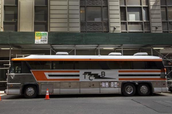 エルビス・プレスリーのサポートバンドが使用したツアーバス=2015年