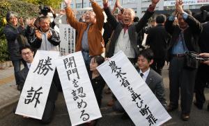 開門を認めた2010年の福岡高裁判決=2010年12月、福岡市