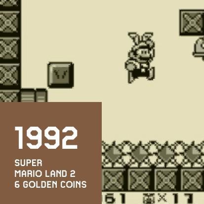 1992 SUPER MARIO LAND 2 6 GOLDEN COINS
