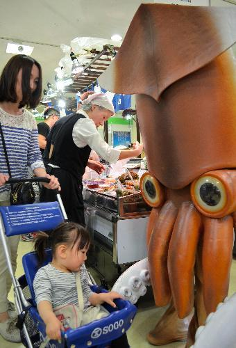 函館市の観光PRキャラクター「イカール星人」