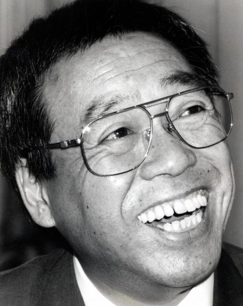 「お笑いマンガ道場」で川島さんとコンビを組んで「おまけコーナー」を担当していた車だん吉さん=1993年