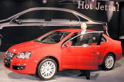 日本でも販売されていた5代目VWジェッタ=2006年1月23日