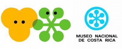 東山動植物園のシンボルマーク=東山動植物園提供(左)、コスタリカの国立博物館のロゴマーク=同館フェイスブックから