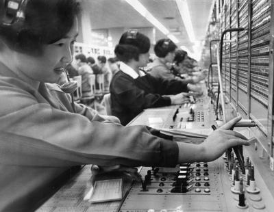 1968年の電話交換手