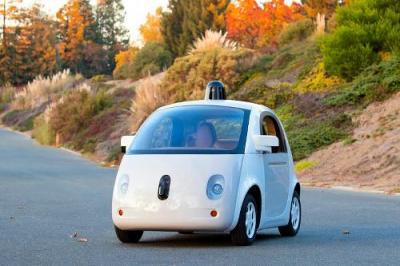 ハンドルもペダルもついていないグーグルの自動運転車の試作車